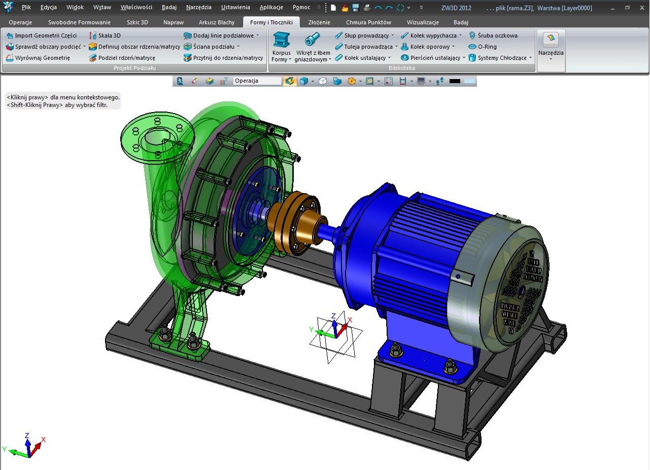 Model i złożenie wykonane w ZW3D